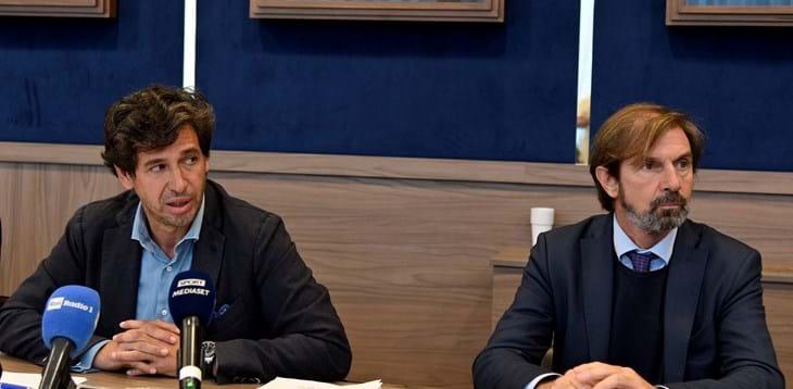 Demetrio Albertini e Filippo Galli presentano il 1º corso per Responsabili di Settore Giovanile (foto www.ficg.it).